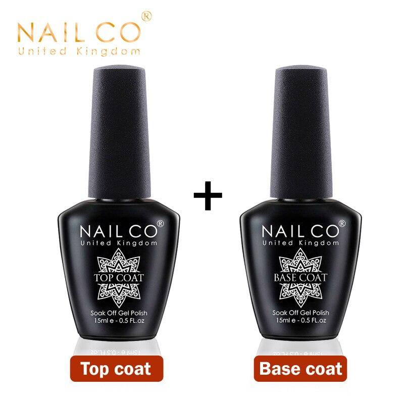 Гель-лак NAILCO для базового и топового покрытия ногтей, 15 мл, УФ светодиодный лампа, полулак, постоянный лак для дизайна ногтей, удаляемый зама...