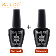 NAILCO Base And Top Coat Gel Nail Polish 15ml UV LED Lamp Semi Vernis Permanent Nail Art Soak off Hybrid Varnishes