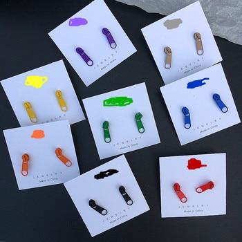 Korean Cute Alloy Fashion Zipper Stud Earrings for Women Ins Style Colorful Zipper Earrings 2019 for.jpg 350x350 - Korean Cute Alloy Fashion Zipper Stud Earrings for Women Ins Style Colorful Zipper Earrings 2019 for Summer Unique Funny Jewelry