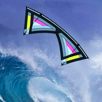 free shipping high quality 2.4m quad line stunt kite surf handle line weifang power kite outdoor toys fly for adult new beginner