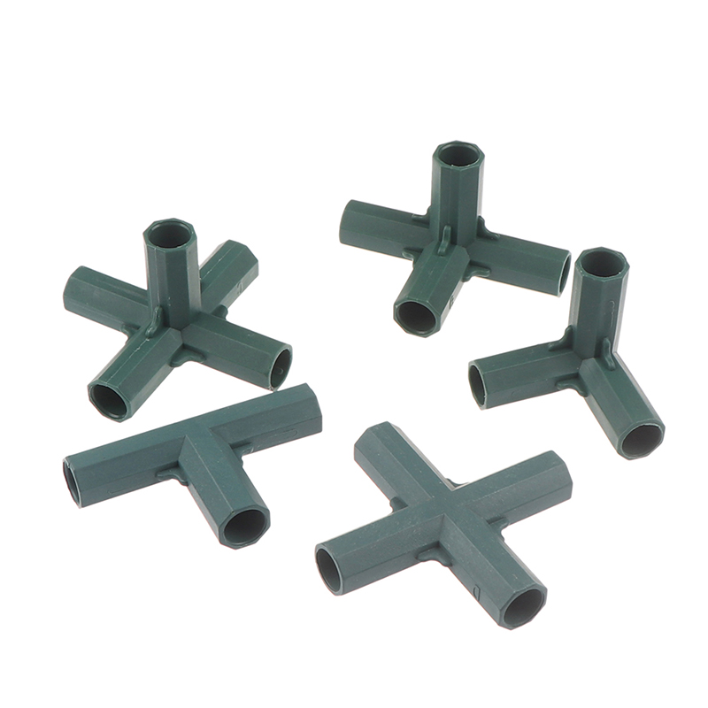 5 types 16mm Fitting Stable Support Heavy Duty Greenhouse Frame Building Connector Right Angle 3 4 5-way Connector Garden Tool