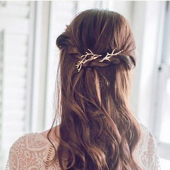 Spinki do włosów spinki do włosów spinki do włosów spinki do włosów spinki do włosów złoto srebrne akcesoria metalowe do włosów elegancki wygląd dla kobiet Lady Girls tanie i dobre opinie CN (pochodzenie) 1pcs Hair Clips408 full size