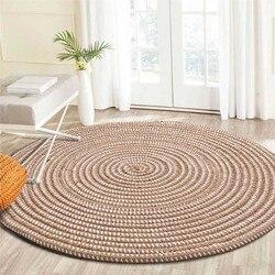 Dzianiny okrągłe dywany do salonu krzesło do pracy na komputerze dywan do składania zabawkowy namiot dla dzieci mata podłogowa szatnia wykładziny i dywany Dropshiping #