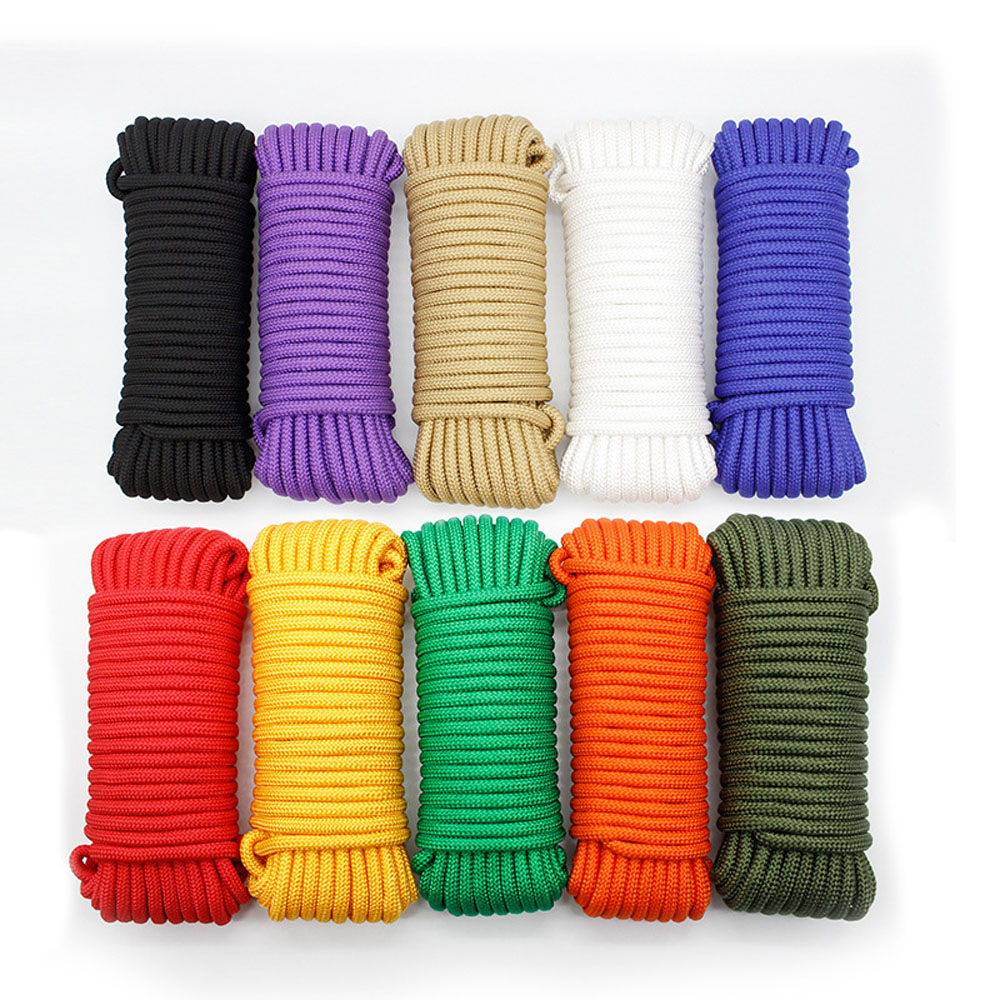 Dia 6 MM 5KN 5 10 20 30 Meters Core-spun Parachute Cord Lanyard Tent Rope For Hiking Camping Clothesline DIY Bracelet