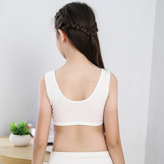 Mädchen Training Bhs 2 Stück Unterwäsche mit Pads Sport Tops 4