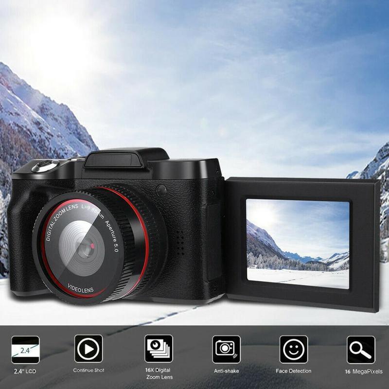 Portable Digital Camera Professional Video Camcorders HD 1080P 16X Zoom 2.4 inch LCD Screen CMOS Sensor Vlogging Video Camera