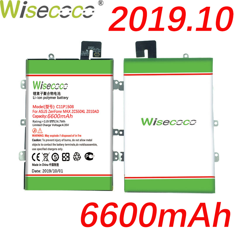 Wisecoco C11P1508 6600mAh Newly Produced <font><b>Battery</b></font> With Frame For ASUS Zenfone Max <font><b>ZC550KL</b></font> Z010AD Z010DD Z010D Z010DA Built-in image