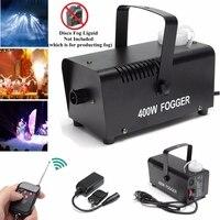 Mini led rgb sem fio 400 w nevoeiro fumaça névoa efeito da máquina disco dj festa de natal com controle remoto led fogger|Efeito de Iluminação de palco| |  -
