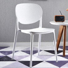 Nordic Plastic Dining Chair Restaurant Office Meeting Computer Chair Family Kitchen Learning Leisure Cafe Louis Furniture Chair