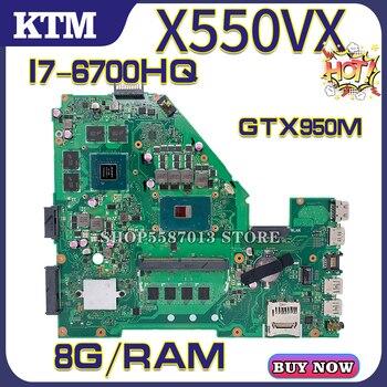 A550V for ASUS FH5900V X550VX X550VQ X550VXK FZ50V FX50V laptop motherboard mainboard 100% test OK I7-6700HQ cpu 8G/RAM GTX950 k541u for asus x541uv x541uvk a541u x541uj f541u x541u r541u laptop motherboard mainboard 100