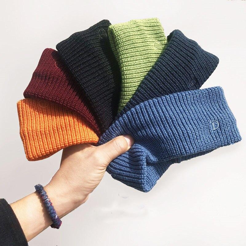 Elegant Women Ear Warmer Headband Winter Elastic Soft Solid Wide Turban Wool Knitted Cotton Hairband Hair Accessories Headwrap