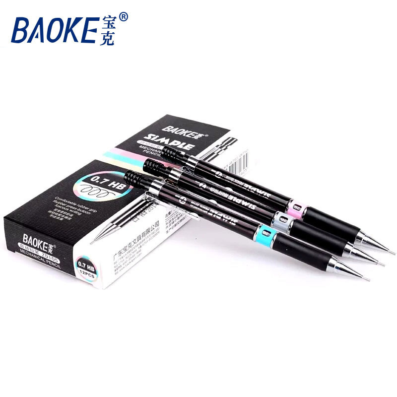 Random 1Pcs Baoke Automatic Pencil 0.7mm/0.5mm HB Office Supplies Drawing Pen Painting Pencil School Student Mechanical Pencil