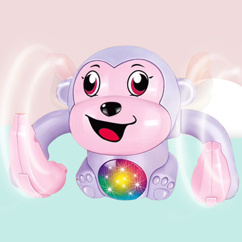 Monkey Toy Fun Rolling Doll Electric Tumble Voice Control Animal Modern Plastic Cartoon Educational Toys For Children