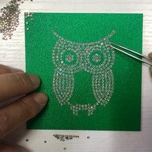 Hotfix diamante diamante motivo estêncil strass calor imprensa transferência motivo adesivo cartão de papel placa templet molde artesanato ferramentas