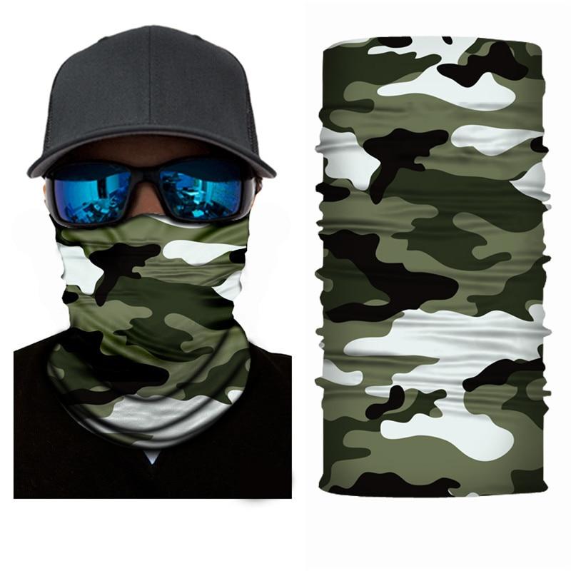High-Jump Anti UV Fishing Clothing Bandana Polyester Windproof Face Mask Headwear Tactical Military Fishing Sportswear Scarves