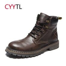 CYYTL/мужские кожаные модные ботинки; коллекция года; ботильоны на шнуровке; зимние теплые безопасные кроссовки; Bota Masculina; зимняя обувь для улицы; botas hombre