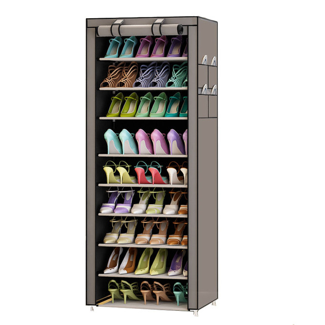 9 Tier Modern Shoe Shelves Oxford Cloth Shoe Stool Storage Cabinet Multi purpose Shoes Rack DIY Shoes Organizer Case Space Saver