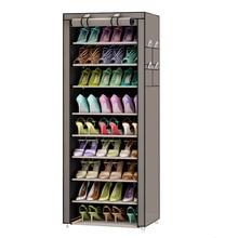 9 계층 현대 신발 선반 옥스포드 헝겊 신발 의자 보관 캐비닛 다목적 신발 랙 diy 신발 주최자 케이스 공간 보호기
