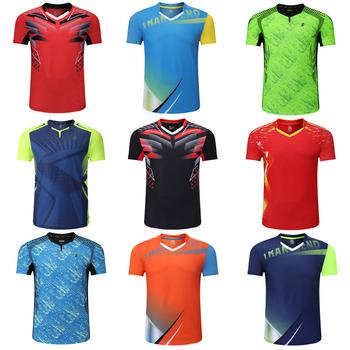 Nowy 2019 Badminton shirt sportowa koszulka do gry w tenisa kobiety mężczyźni koszulka do gry w tenisa stołowego s koszulka tenisowa odzież Qucik sucha koszulka do gry w tenisa 3903 tanie i dobre opinie NoEnName_Null Poliester Mikrofibra Krótki Koszule Suknem 3901 3903 3902 Pasuje prawda na wymiar weź swój normalny rozmiar
