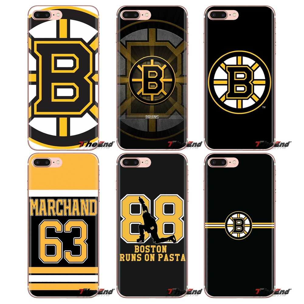 Zachte Transparante Shell Covers Voor Samsung Galaxy A3 A5 A7 A9 A8 Ster A6 Plus 2018 2015 2016 2017 Boston bruins Ijshockey