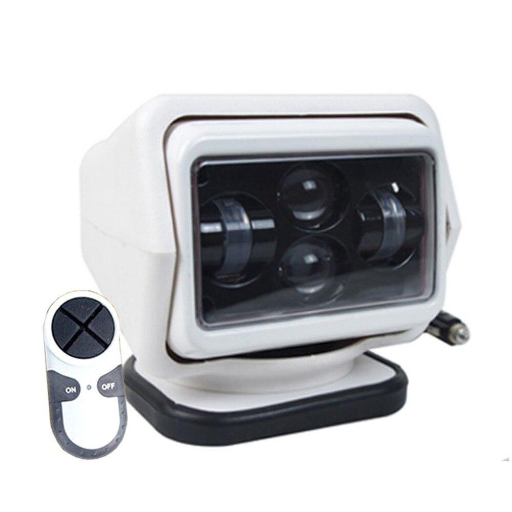 1Pc 60W Wireless Led Marine Searchlight 12V 24V Led Searching Light Remote Control Spot Light Car Led Work Light 12V Hot