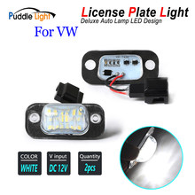 2 pièces LED plaque d'immatriculation lampes lumineuses pour VW Polo 3 classique Variant Golf 3 Cabriolet GTI R32 Seat Ibiza Cordoba Vario 6K
