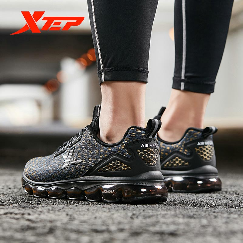 Xtep AIR MEGA Fashion Men's Running <font><b>Shoes</b></font> Men Waterproof PU <font><b>Material</b></font> Sport Sneakers Air Cushion Sport <font><b>Shoes</b></font> 881419119810 image