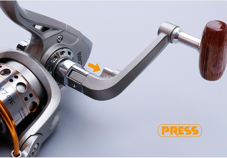 TREHOOK Super Strong 5.21 Baitcasting Reel Metal Spinning Reel Winter Fishing Accessories Sea Fishing Reels With Wooden Knob 014