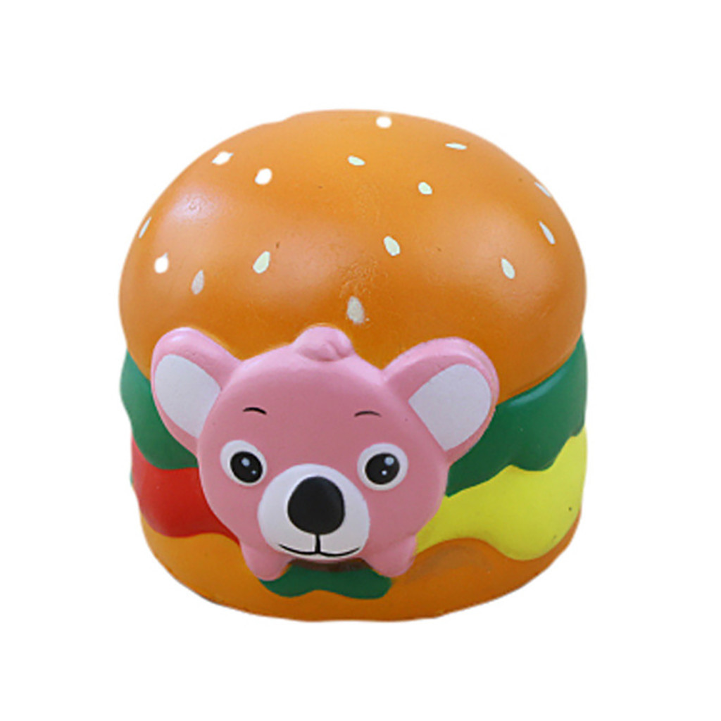 Adorable Koala Hamburger Stress Reliever Slow Rising Toy Creative Animal Doll Soft Squeeze Toy Decompression Cure Toy #B