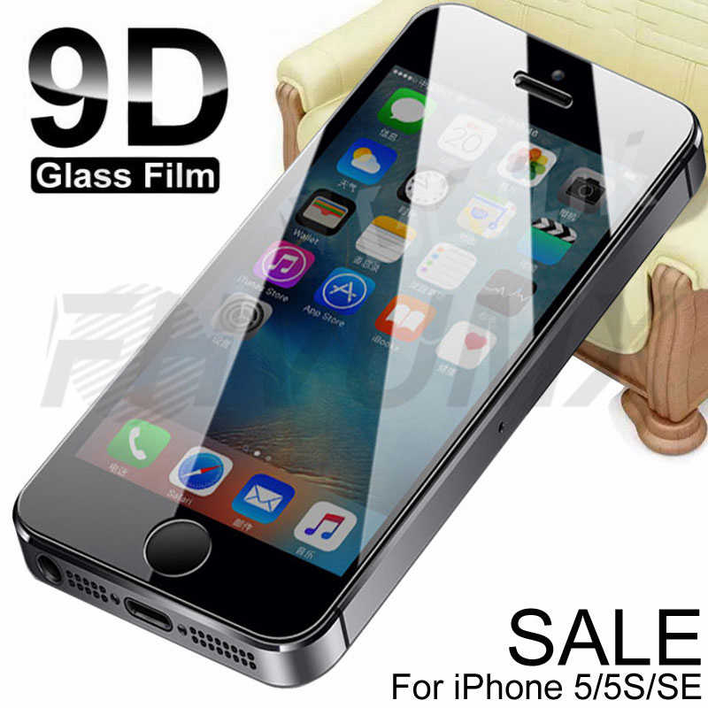9D Protective Glass On The For IPhone 5S 5 5C SE Tempered Screen Protector Safety Glass For Apple IPhone SE SE Protection Film
