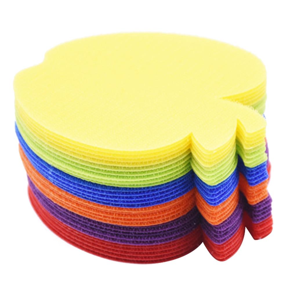 30PCS Carpet Spot Markers Rainbow Color Carpet Spots Marker For Classroom Sport Trainning Preschool Teaching New Dropshipping