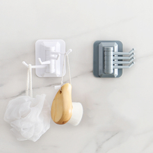 1/5 Pcs Multifunctional Self-Adhesive Punch-Free Hook 180 Degree Strong Stick Wall Hanger For Kitchen Bathroom Storage Rack D35
