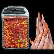 Ногти в виде кленовых листьев яркие 18 цветов s градиентные