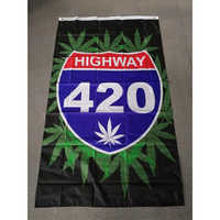 BOB Marley Reggae Rasta Hippie Band 90*150cm highway 420 weed Flag For Bar Party Music Festival Tattoo Shop