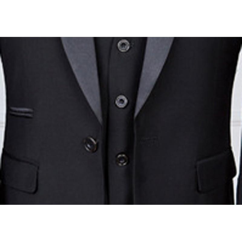 Модный клетчатый мужской костюм на заказ, смокинги для жениха, свадебные костюмы из 3 предметов, блейзер для лучшего человека (костюм + брюки ... - 4