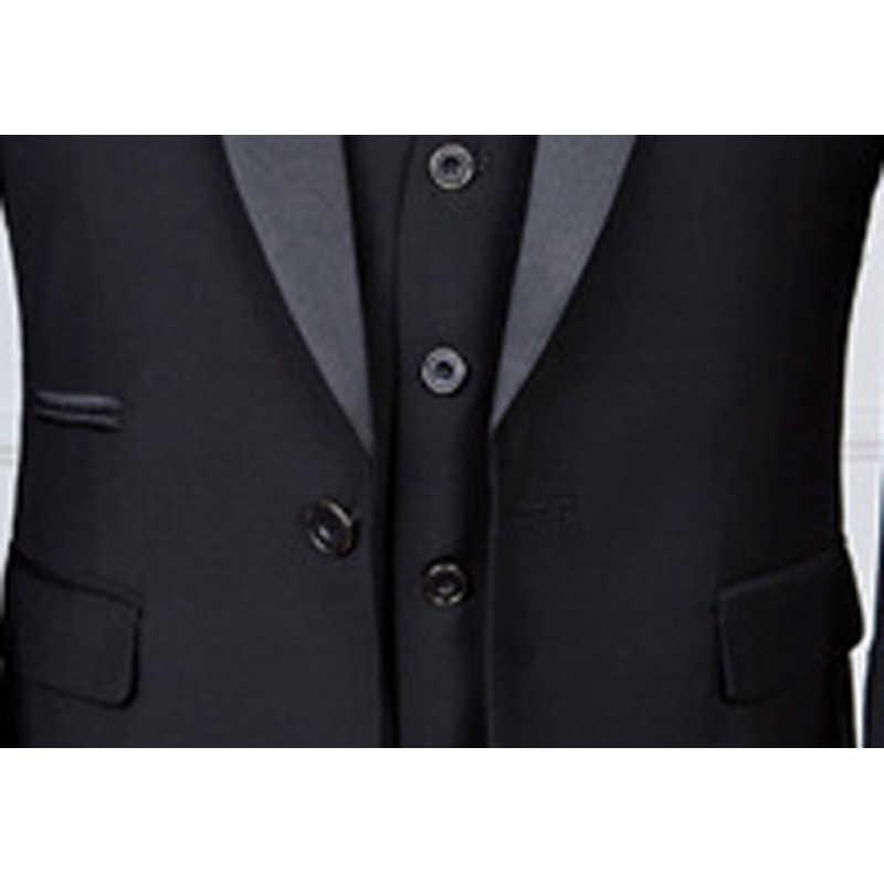 Shenrun hommes smoking coupe ajustée Costume de mode de mariage châle revers 3 pièces maigre simple boutonnage veste fête bal chanteur Costume