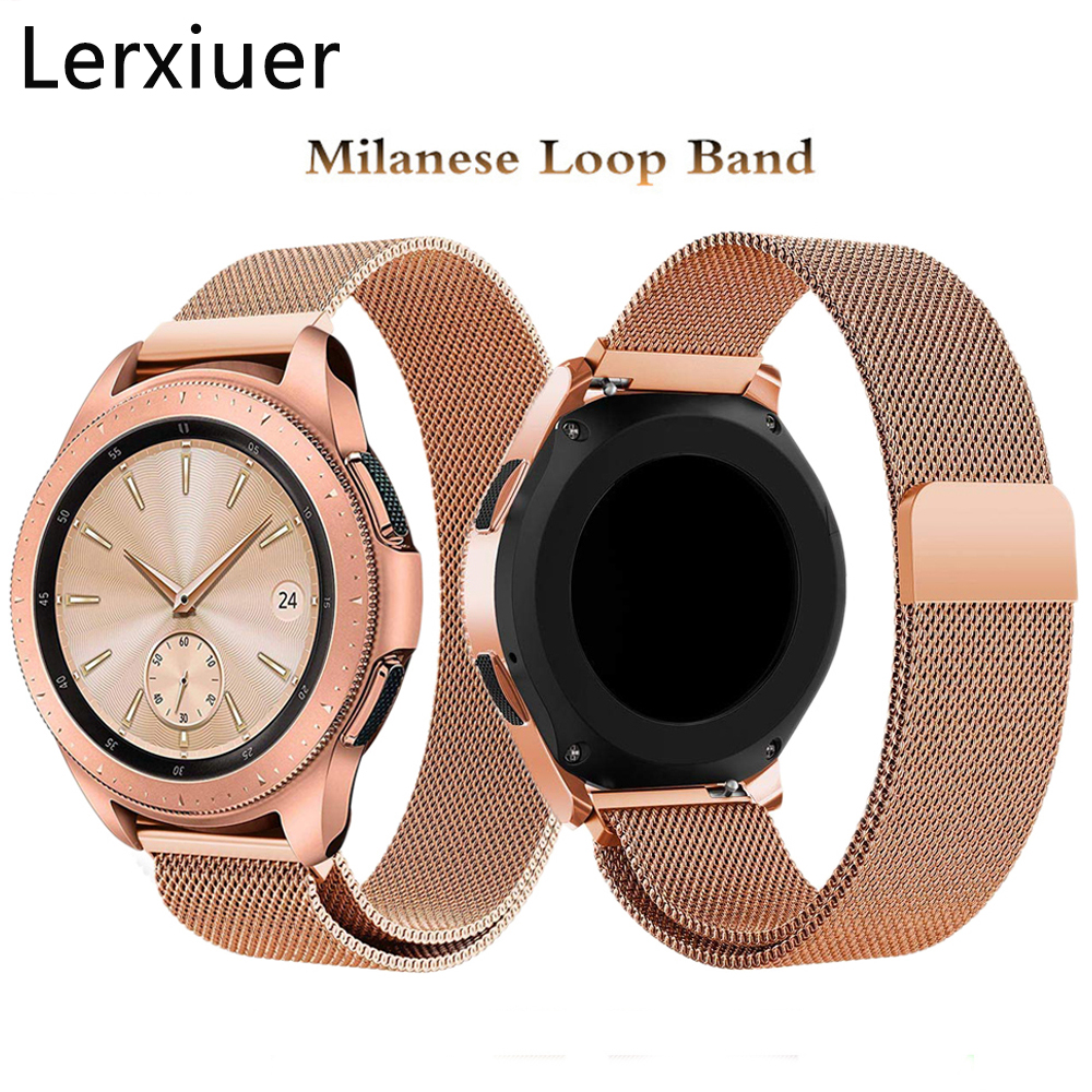 Milanese Loop 22mm 20mm Watch Band For Samsung Galaxy Watch 46mm 42mm Active 2 Gear S3 Frontier Strap Huawei Watch GT 2 Bracelet