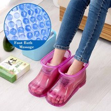 Transparent Foot Soak Shoes Feet Home Massage Personal DIY Massage Shoes Ball Insole Comfortable Massage Feet Bath Sandals free shipping comfortable seven lingzhu live ribs massage brush dragon ball rotation massage