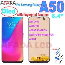 Super amoled дисплей для samsung galaxy a50 2019 a505 a505f