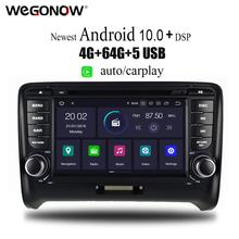 PX6 DSP Android 10 6 rdzeń 4GB RAM 64GB ROM samochodowy odtwarzacz DVD odtwarzacz GPS mapa Bluetooth 4 2 RDS Radio wifi MIC dla Audi TT 2006 #8211 2015 tanie tanio CN (pochodzenie) podwójne złącze DIN 4*50W System operacyjny Android 10 0 DVD-R RW DVD-RAM VIDEO CD JPEG Plastic Steel