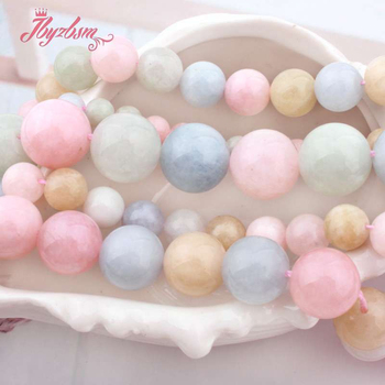 6 8 10 12 14mm Round Beads Beryl Jades Smooth Loose Natural Stone Beads For Necklace Bracelet DIY Woman Gift Jewelry Making 15 image