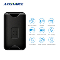 AOSHIKE WIFI GPS LBS Tracker Intelligent Vehicle Tracking Device Band Car GPS Tracker Google Link Real Time Anti lost