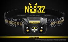 100% Chính Hãng Nitecore NU32 CREE XP G3 S3 LED 550 Lumens Cao Hiệu Suất Sạc Đèn Pha Được Xây Dựng Trong Pin Li ion