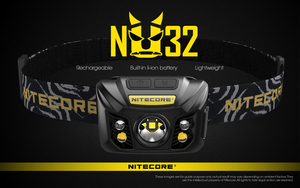 100% Original Nitecore NU32 CREE XP-G3 S3 LED 550 Lumens High Performance Rechargeable Headlamp Built-in Li-ion Battery(China)