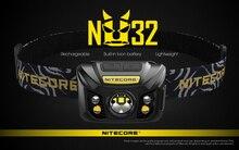 100% Original Nitecore NU32 CREE XP G3 S3 LED 550 Lumens haute Performance Rechargeable phare intégré Li ion batterie
