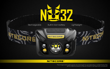 100% original nitecore nu32 cree XP G3 s3 led 550 lumens farol recarregável de alto desempenho embutido bateria de iões de lítio