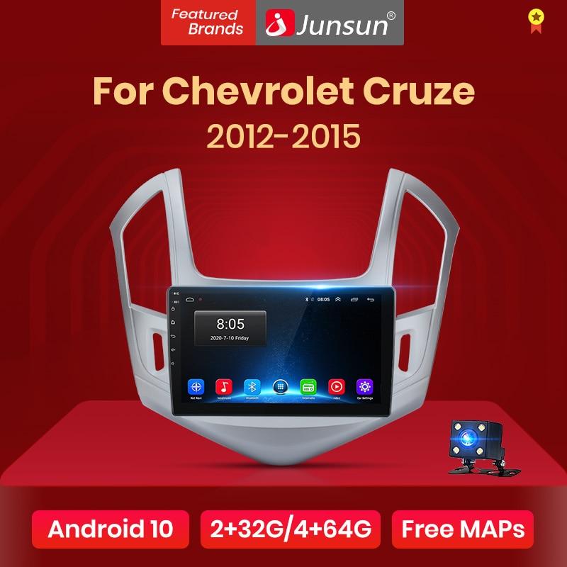 Junsun v1 2g + 32g android 10.0 rds para chevrolet cruze 2012-2015 rádio do carro reprodutor de vídeo multimídia navegação gps 2 din dvd