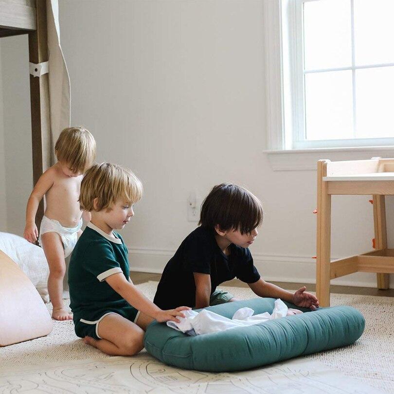 75X42cm Baby Nest Bed Newborn Nest Travel Bed For Kids Bebe Cradle Bassinet Bumper Crib