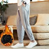 110 KG Soft Solid Gray Joggers Men Sweatpants Chinese Style Mens Trousers Large Size Thick Harem For Big Man Flare Pants 9