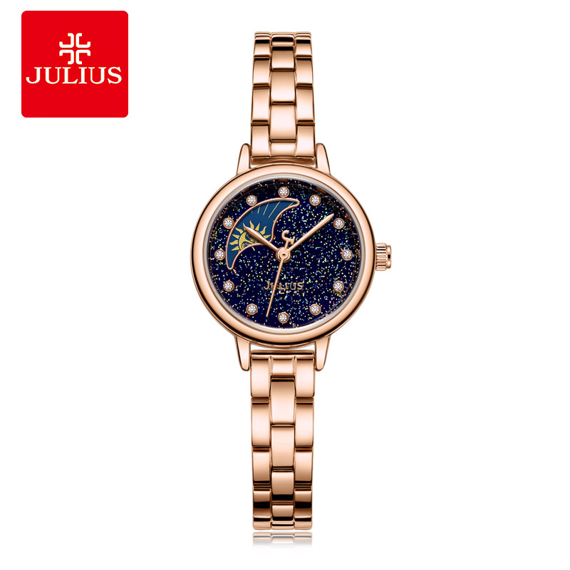 Julius Watch JA-1157 Women's Moonphase miltifuctional Staineless steel Watch